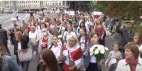 Женски марш в Минск срещу Лукашенко